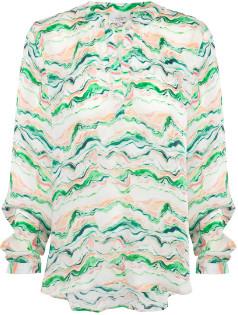 Primrose Park Green Multi Wave Sandy Open Shirt - s