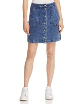 Three Dots Snap Front Denim Skirt