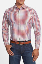 Robert Talbott Crespi II Windowpane Plaid Trim Fit Sport Shirt
