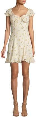 Free People Like A Lady Floral-Print Mini Dress