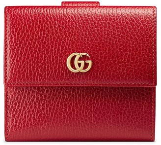 Gucci French flap wallet