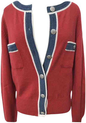 Chanel Red Cashmere Knitwear