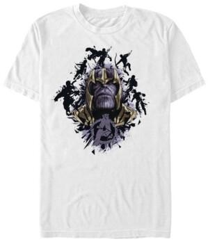 Marvel Men's Avengers Endgame Thanos in Action Big Face, Short Sleeve T-shirt