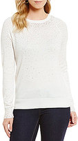 Daniel Cremieux Dani Embellished Long Sleeve Sweater