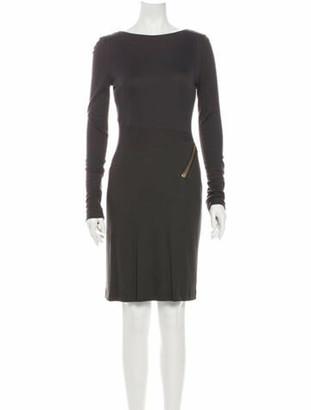 Tom Ford Bateau Neckline Knee-Length Dress Grey