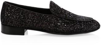 Giuseppe Zanotti Glitter Leather Loafers