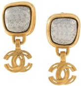 Chanel Pre Owned 1997 swinging CC clip-on earrings