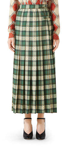 a6bd6ca129 Gucci Pleated Skirt - ShopStyle