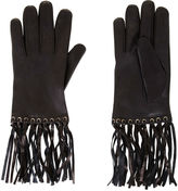 BCBGMAXAZRIA Fringe Leather Gloves