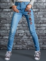 M&Co Floral embroidered skinny jeans