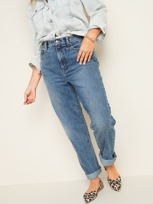 Old Navy Extra High-Waisted Sky-Hi Straight Rigid Jeans for Women