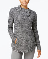 Style&Co. Style & Co. Petite Marled Envelope-Neck Sweater, Only at Macy's