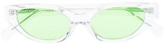 Karen Wazen The Glamerous cat-eye sunglasses