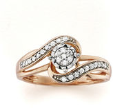 JCPenney MODERN BRIDE 1/5 CT. T.W. Diamond 10K Rose Gold Promise Ring