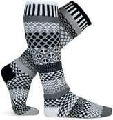 Solmate Socks Mismatched Knee High Socks, USA Made, Midnight Large