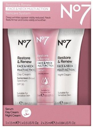 No7 Restore & Renew Face & Neck Multi Trial Set