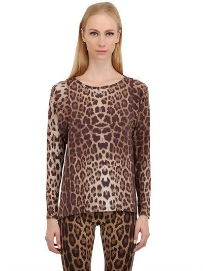 Leopard Printed Modal Jersey T-Shirt