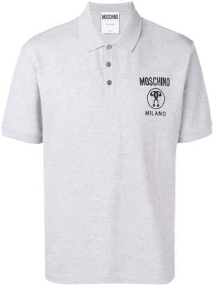 Moschino logo print polo shirt