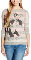 Frog Box Sylvester FROGBOX- stripes Women's Hoodie - Pink -