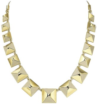 Marc by Marc Jacobs Marc Jacobs Standard Supply Giant Stud Cream Enamel Gold Link Statement Necklace