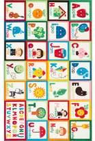 Zoomie Kids Rebekah Kids Alphabet Red/Green Area Rug Rug