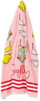 Seafolly Spring Bloom Kids' Cotton Velour Beach Towel, Multicolor