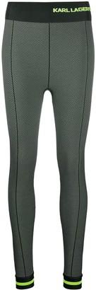 Karl Lagerfeld Paris Chevron-Pattern Slim-Fit Leggings