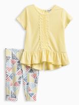 Splendid Baby Girl Flounce Top with Crochet Set