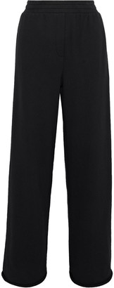 Alexander Wang Cotton-blend Terry Wide-leg Track Pants