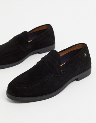 Farah suede loafers in black
