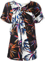 Emilio Pucci tree print panelled mini dress - women - Silk - 42