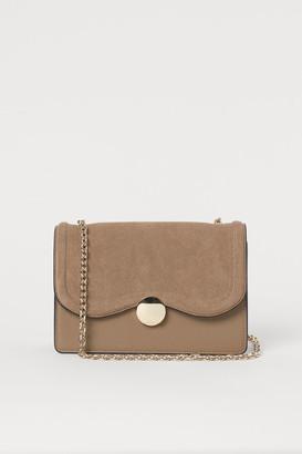 H&M Suede-detail Shoulder Bag - Beige