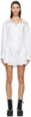 alexanderwang.t White Cotton Cinched Shirt Dress