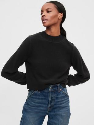 Gap Cropped Mockneck Sweater