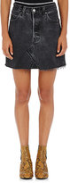 RE/DONE Women's The High Rise Mini Skirt-BLACK