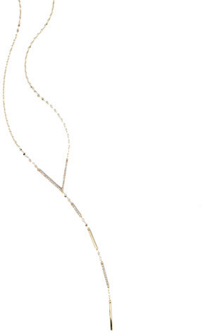 Lana 14K Expose Lariat Necklace with Diamonds
