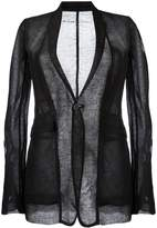 Rick Owens sheer ribbed blazer
