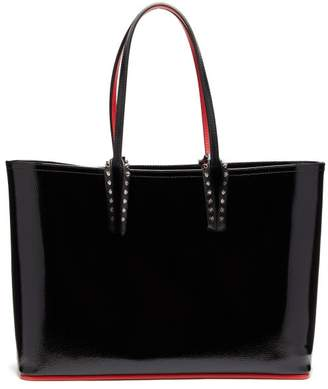 Christian Louboutin Cabata Patent-leather Tote - Womens - Black