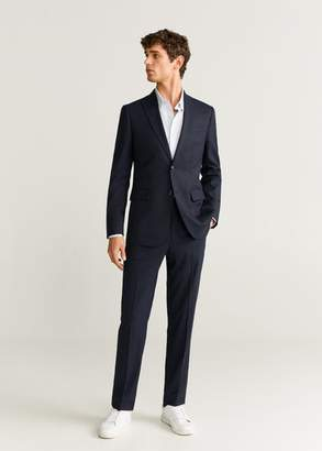 MANGO Slim fit washable suit blazer