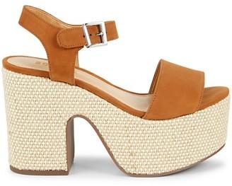Schutz Glorya Suede Platform Sandals
