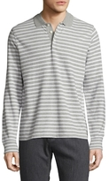 Knit Stripe Rugby Polo