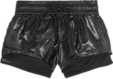 adidas by Stella McCartney Mesh and coated-shell shorts