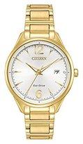 Citizen Women's 'Eco-Drive' Quartz Stainless Steel Dress Watch, Color:Gold-Toned (Model: FE6102-53A)