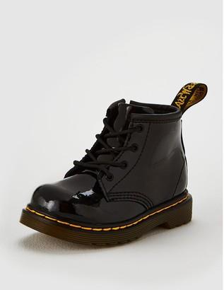 Dr. Martens Girls Infant 1460 Patent Boot - Black