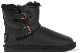 Australia Luxe Collective Machina X Buckled Shearling Ankle Boots