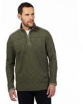 Mantaray Khaki Zip Neck Sweater