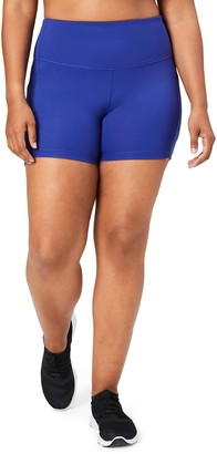 Core 10 Amazon Brand Women's Race Day High Waist Run Compression Short with Pockets - 5""