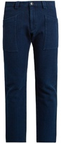 Blue Blue Japan Slim-fit cropped cotton trousers