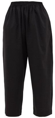 eskandar Cropped Stretch-wool Trousers - Dark Grey