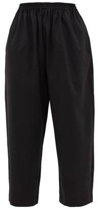 eskandar Cropped Stretch-wool Trousers - Womens - Dark Grey
